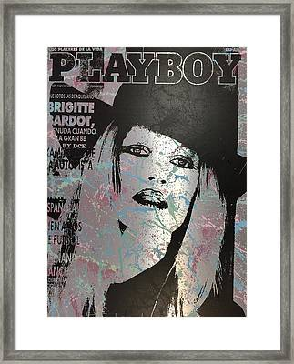 Playboy - Brigitte Bardot Framed Print