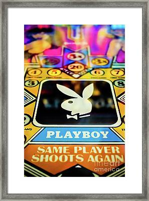 Playboy Pinball Framed Print by Colleen Kammerer