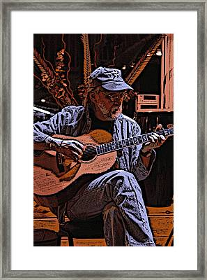 Player  02 Framed Print by Ross Powell