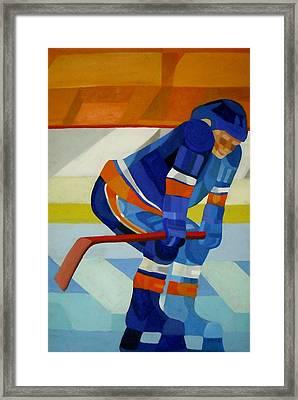 Player 1 Framed Print by Ken Yackel