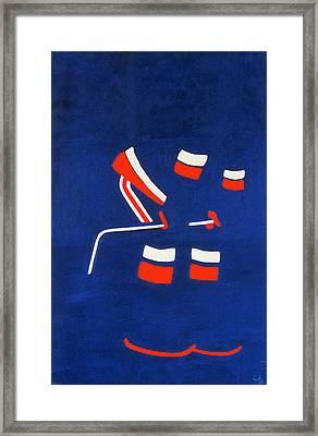 Player 3 Framed Print by Ken Yackel