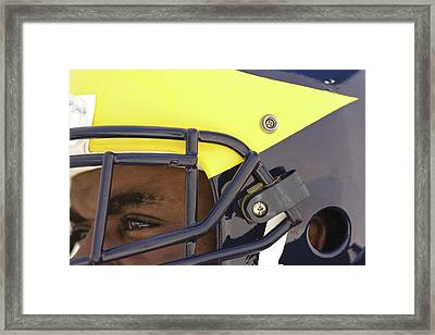 Player In Winged Helmet Framed Print