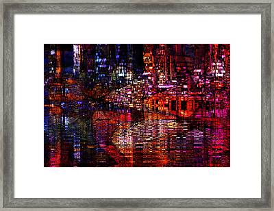 Playful Evening Framed Print