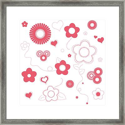 Playful Flower Background Framed Print by Serena King