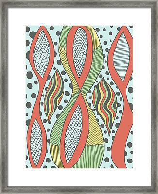 Framed Print featuring the drawing Playful Insanity by Jill Lenzmeier
