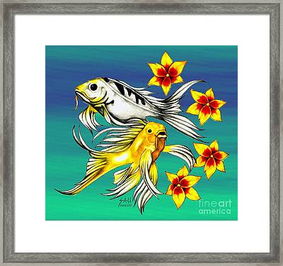 Playful Koi Framed Print
