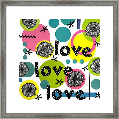 Playful Love Framed Print