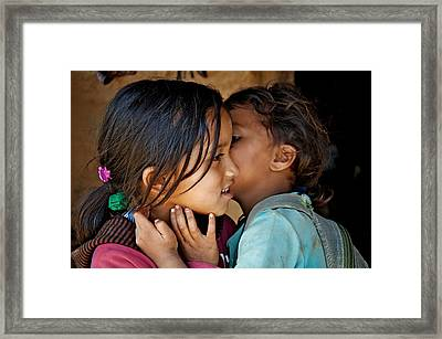 Playful Secrets Framed Print