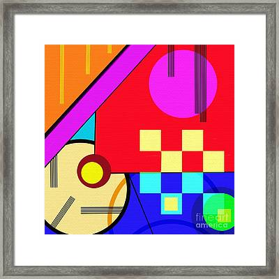 Framed Print featuring the digital art Playful by Silvia Ganora