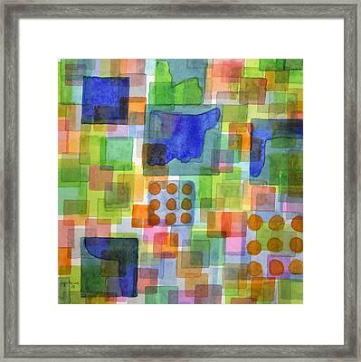 Playful Squares  Framed Print