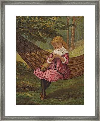 Playful Work Framed Print by English School