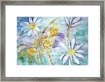 Framed Print featuring the painting Playfulness by Jasna Dragun