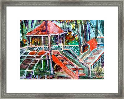 Playground Of The Heart Framed Print by Mindy Newman