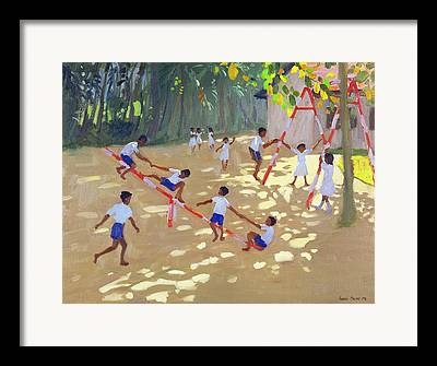 Schoolyard Framed Prints