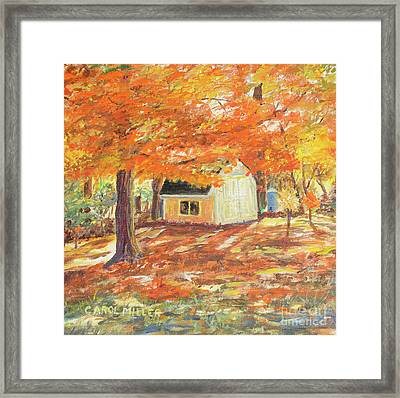 Playhouse In Autumn Framed Print by Carol L Miller