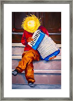 Playin' For Free Framed Print