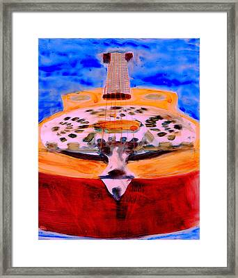 Framed Print featuring the painting Playin The Blues by FeatherStone Studio Julie A Miller