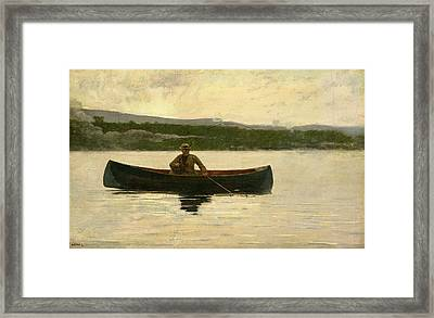 Playing A Fish Framed Print by Winslow Homer