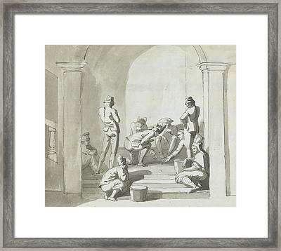 Playing At Dice, Trepani Framed Print by Henry Tresham