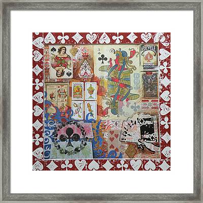 Playing Cards Framed Print by Leigh Banks
