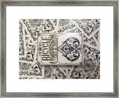 Playing Cards Framed Print by Sheila Mcdonald