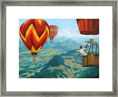 Framed Print featuring the painting Playing Catch by Jason Marsh