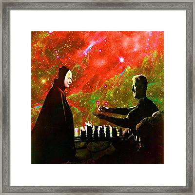 Playing Chess With Death Framed Print by Matthew Lacey