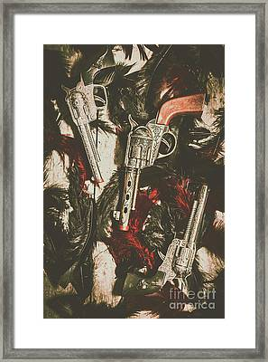 Playing Cowboys And Indians Framed Print