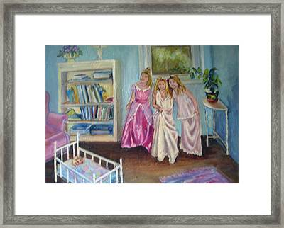 Playing Dress-up Framed Print