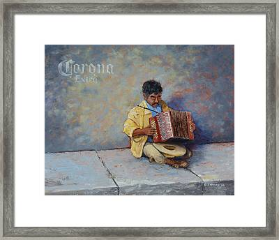 Playing For Pesos Framed Print by Jerry McElroy