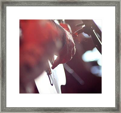 Playing Hands I Framed Print by Carolina Liechtenstein