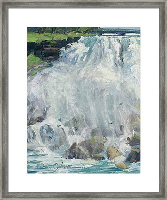 Playing In The Mist - Niagara Falls Framed Print by L Diane Johnson