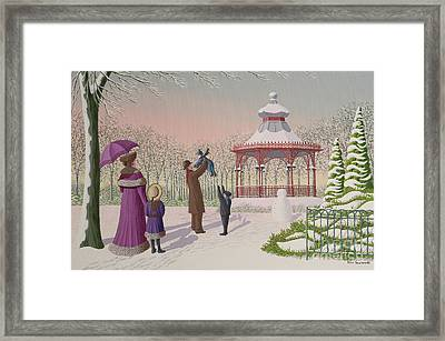 Playing In The Snow Framed Print by Peter Szumowski