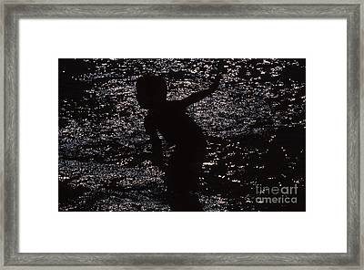Framed Print featuring the photograph Playing In The Water by Edward R Wisell