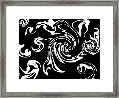 Playing Inside The Imagine Nation Framed Print by Abstract Angel Artist Stephen K