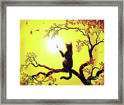 Playing On A Golden Afternoon Framed Print