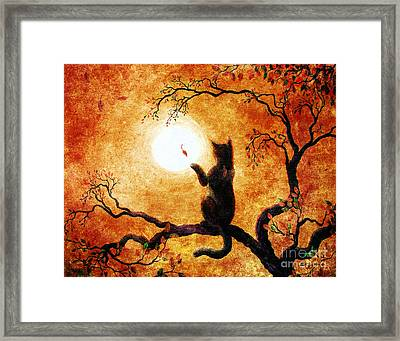 Playing On Halloween Afternoon Framed Print