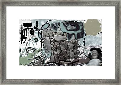 Playing On The Deck Framed Print