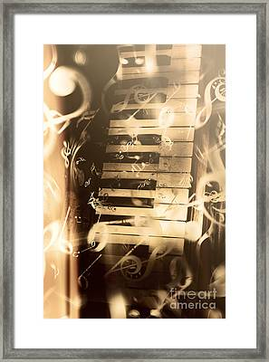 Playing Piano Framed Print
