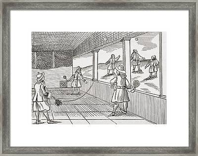 Playing Tennis In The Sixteenth Framed Print