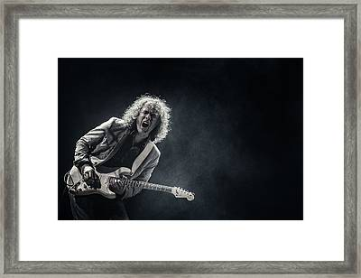 Playing The Blues Framed Print
