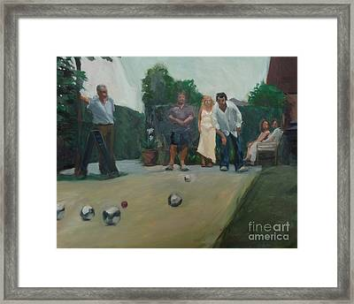 Playing The Game Framed Print