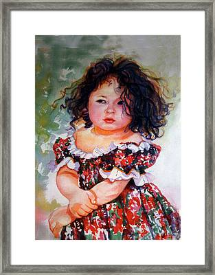 Playing To Be A Model Framed Print by Estela Robles