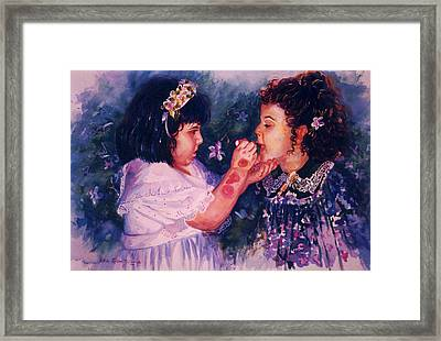 Playing To Be A Woman Framed Print by Estela Robles