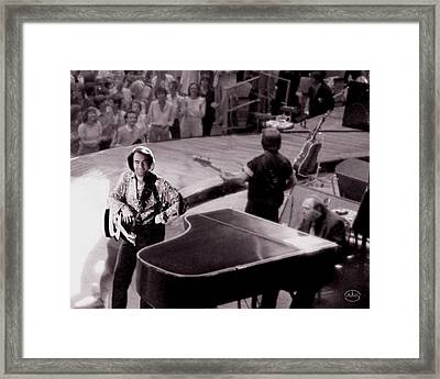 Playing To The Backstage Framed Print by Ron Chambers