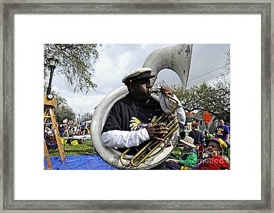 Playing To The Crowd Framed Print