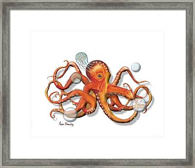Playing With Bubbles Framed Print by Anne Beverley-Stamps