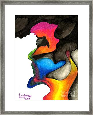 Framed Print featuring the painting Playing With Colors by Fanny Diaz