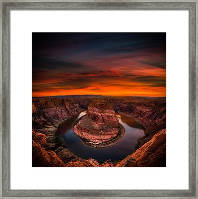 Playing With Fire Framed Print by Peter Irwindale