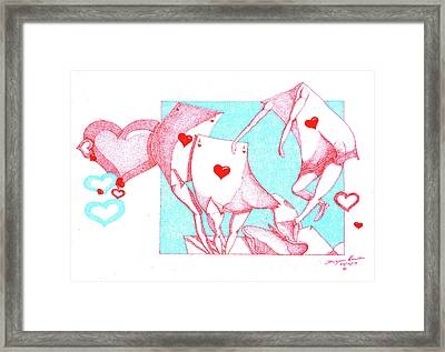 Playing With Love  Framed Print by Dwayne Hamilton